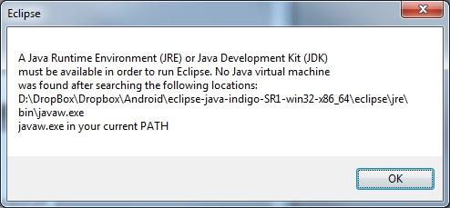 Eclipse Error javaw.exe