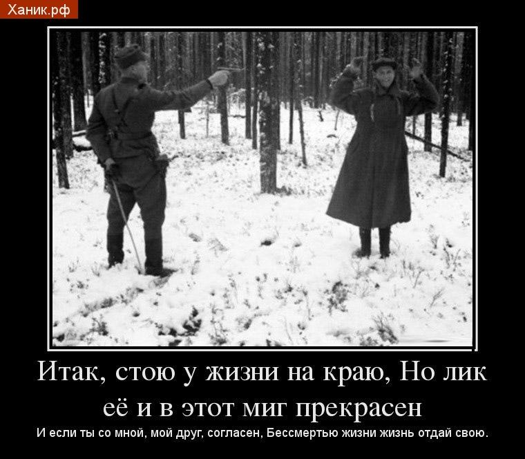 Последняя улыбка советского разведчика  1942 год, Финляндия. Фотография была рассекречена лишь в 2006 году министерством обороны Финляндии. Финляндия, Путешествия, Разведчик, СССР, Война, Улыбка, Демотиватор