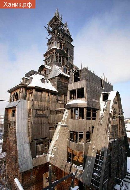 Архитектурный шедевр: Деревянный небоскреб в Архангельске. Снесен в 2009 году.