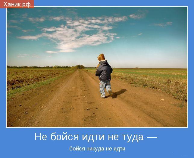 Мотиватор. Не бойся идти не туда - бойся никуда не идти