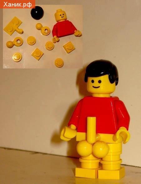 Пособие для уроков полового воспитания для дошкольников. Лего. Мужик с членом