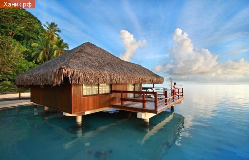 Мальдивы. Бунгало на берегу