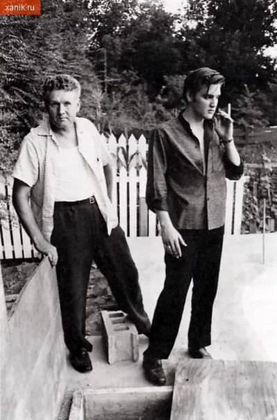 Элвис Пресли с отцом